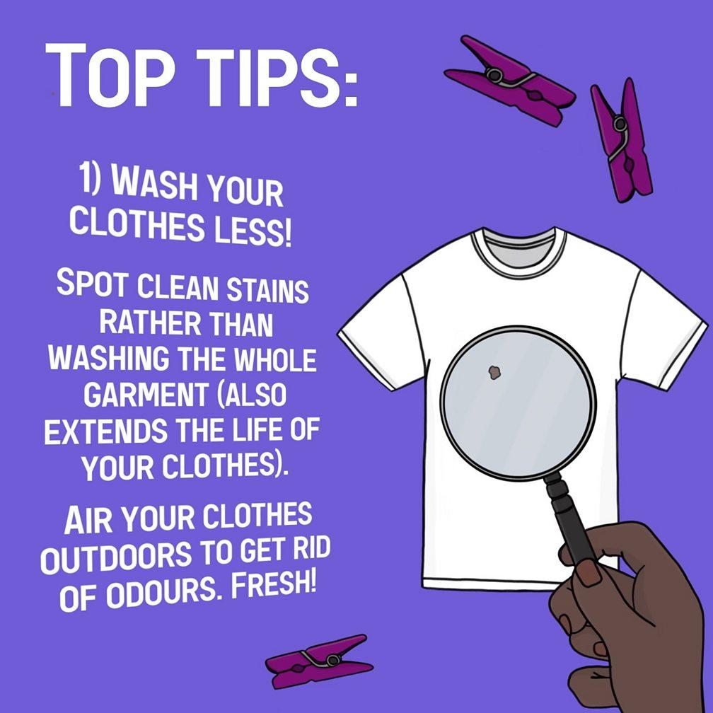 wash clothes less