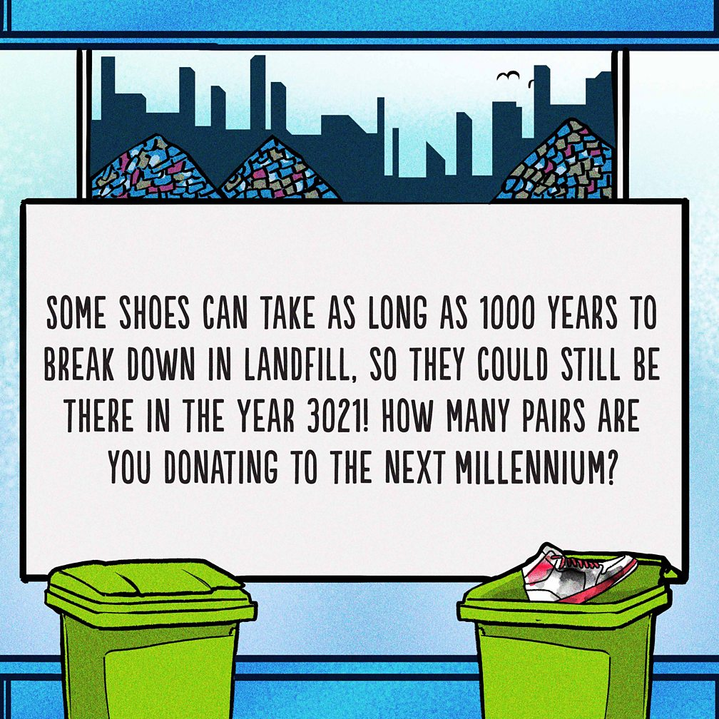 shoes take 1000 years to break down in landfill