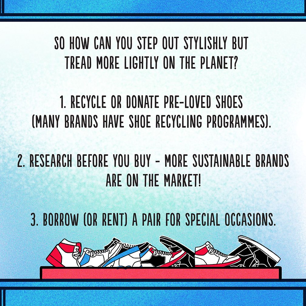 stop 5 climate change and recycle shoes