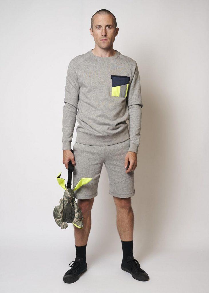 Sustainable Hi Vis Pocket Crew Sweatshirt by Raeburn